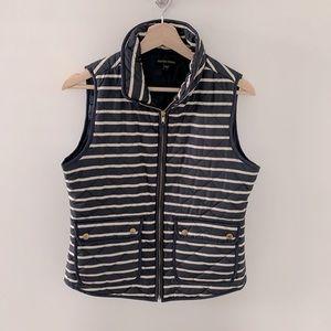 British Khaki stiped quilted vest